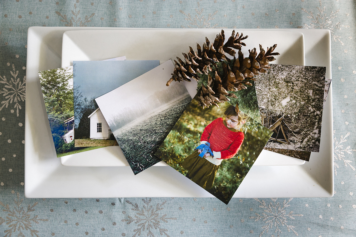 photographs by Ashleigh Coleman - displayed on white platter