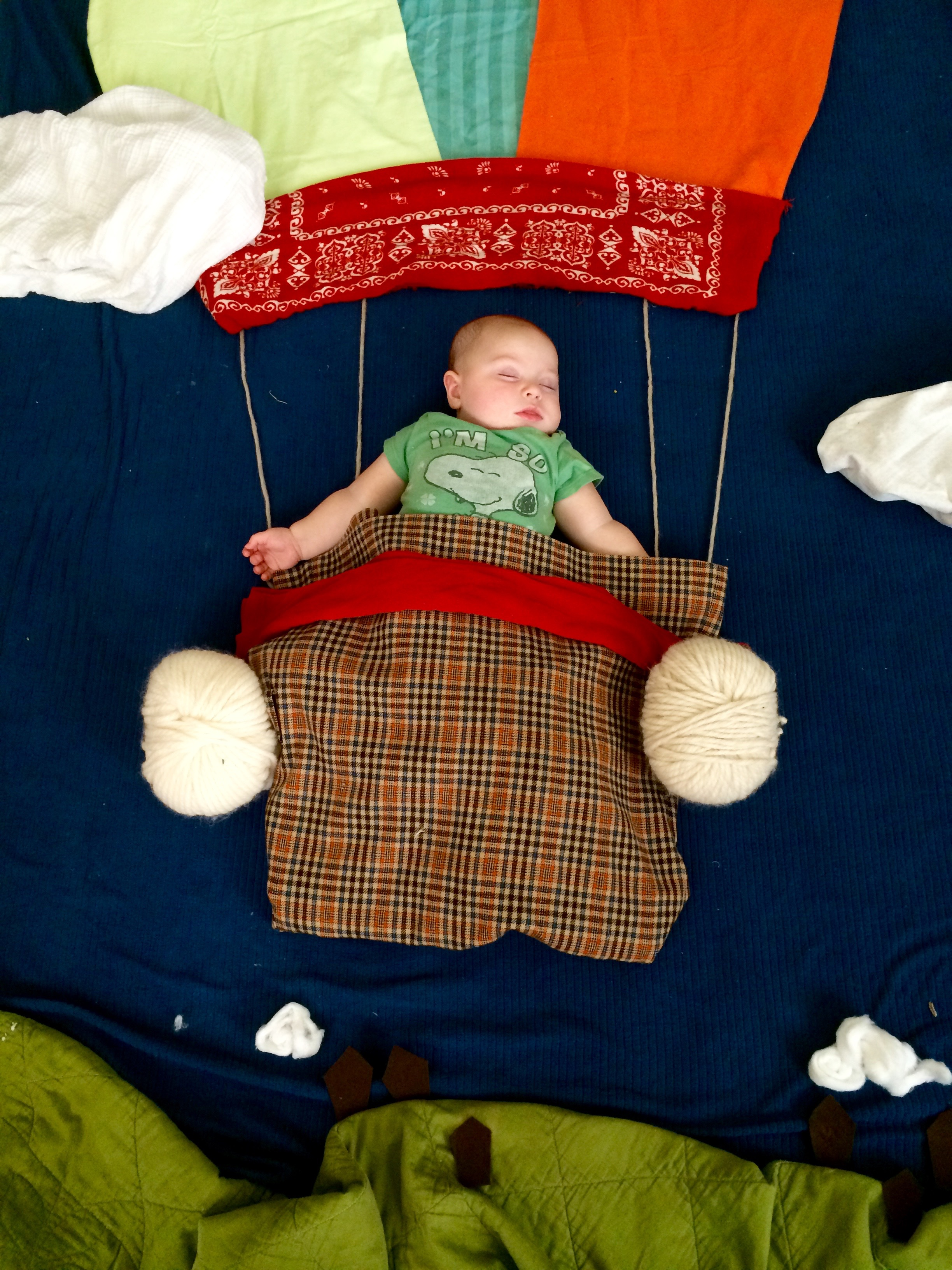 Henry goes hot air-ballooning!