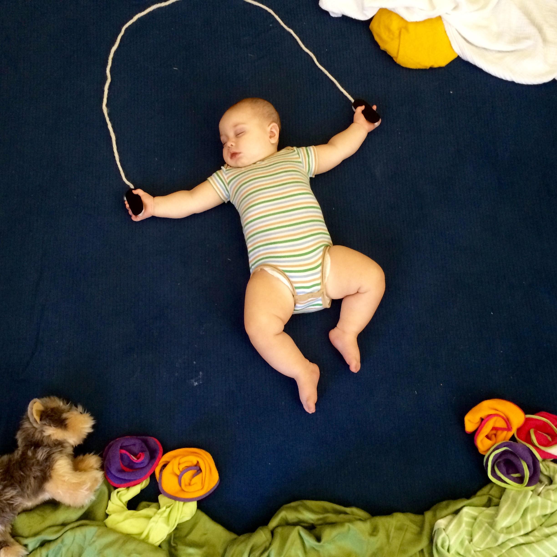 Jumping rope.