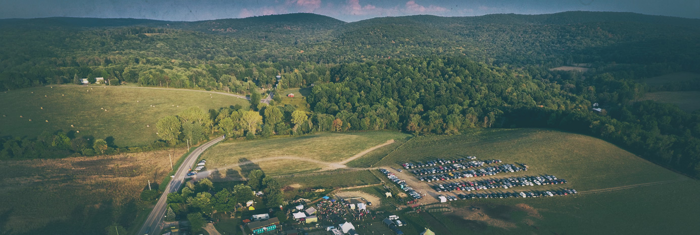 A birds-eye view of the 150-acre Cool Whisper Farm...
