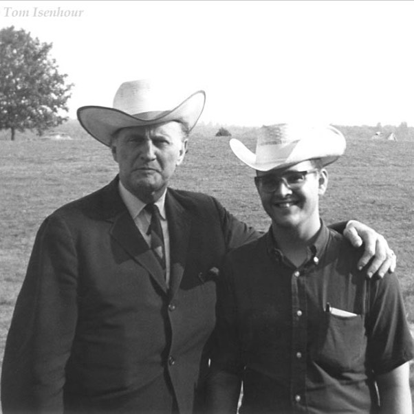 Our videographer Fred Robbins with some guy at Fincastle 1966!!!