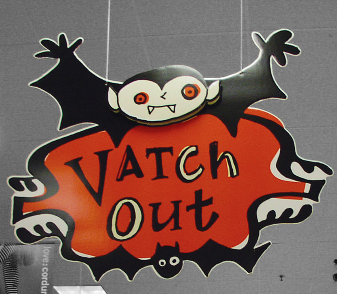 Target Halloween signage by Werner Design Werks in Saint Paul, MN.
