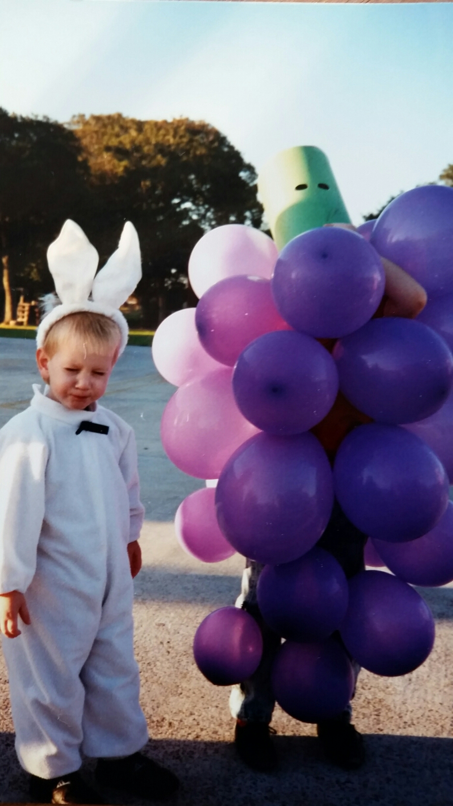 1980-something grapes and my kid brother as a bunny... who even knows.