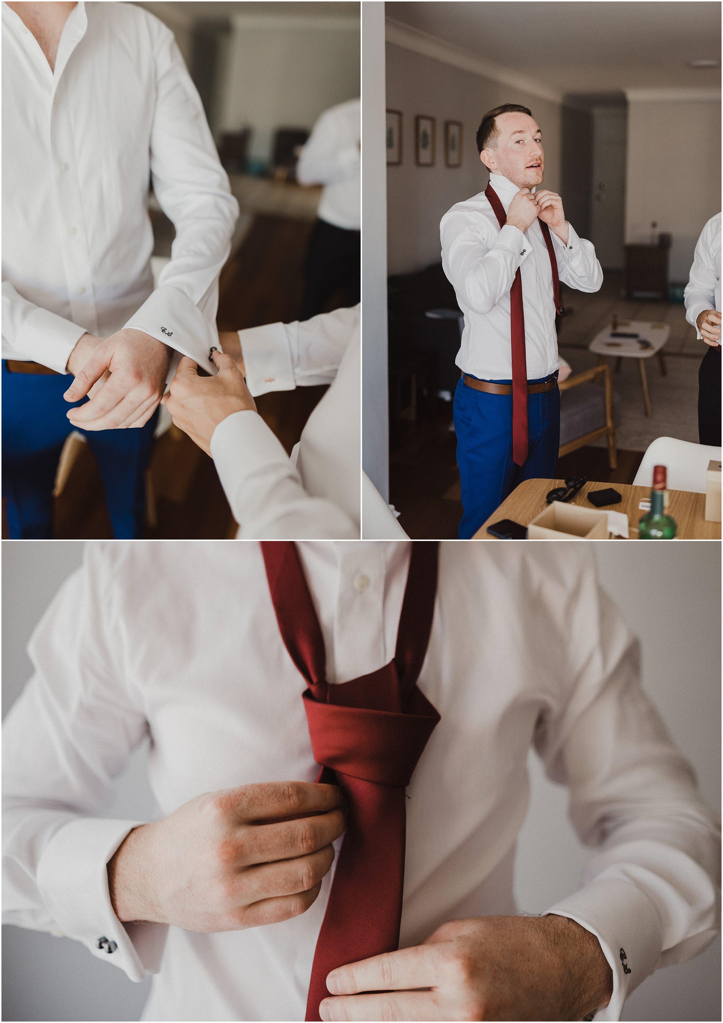 Sydney Wedding - Groom getting ready