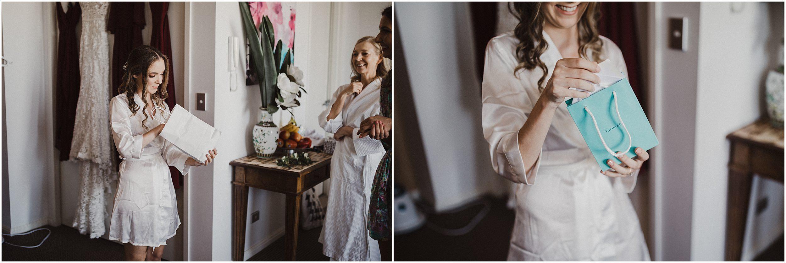 Sydney Wedding - Tiffany present from husband