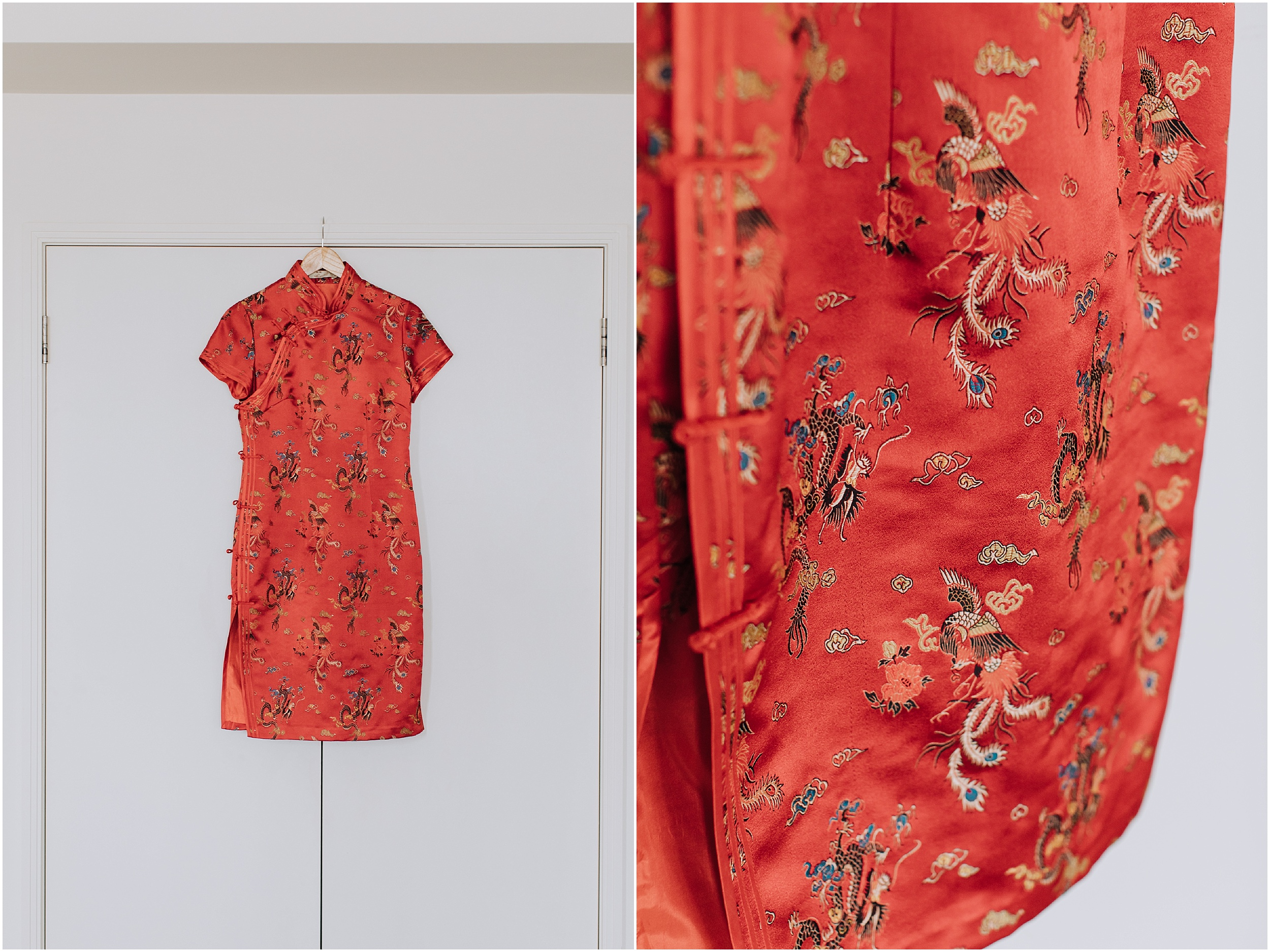 Traditional Chinese Red Tea Ceremony Dress