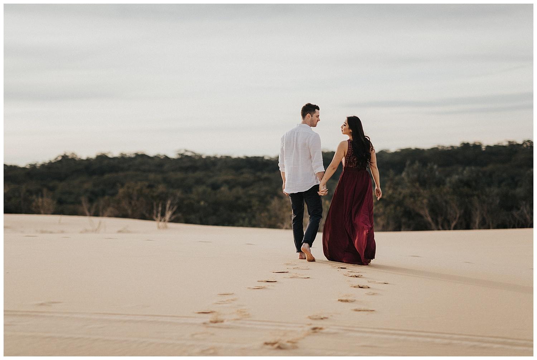 Stockton Sand Dunes Pre-Wedding Sydney Australia Engagement