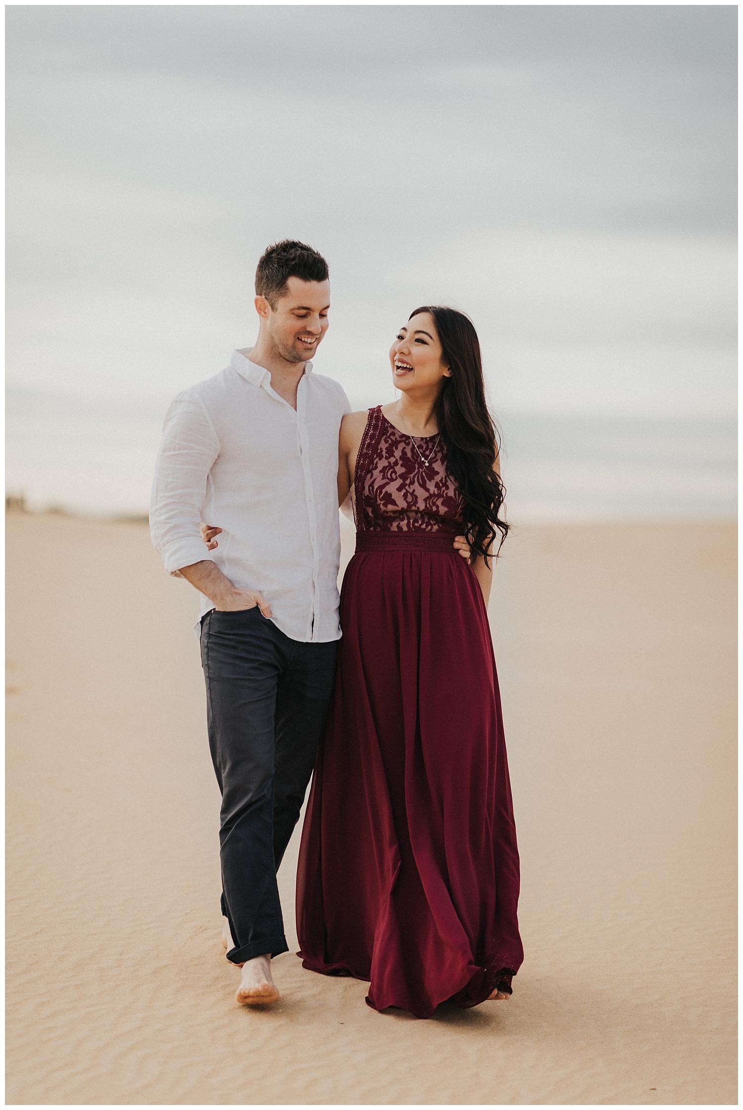 Cindy Rory Sand Dunes Pre Wedding Russell Stafford Photography Sydney Wedding Photographer,Mermaid Wedding Wedding Dresses No Sleeves