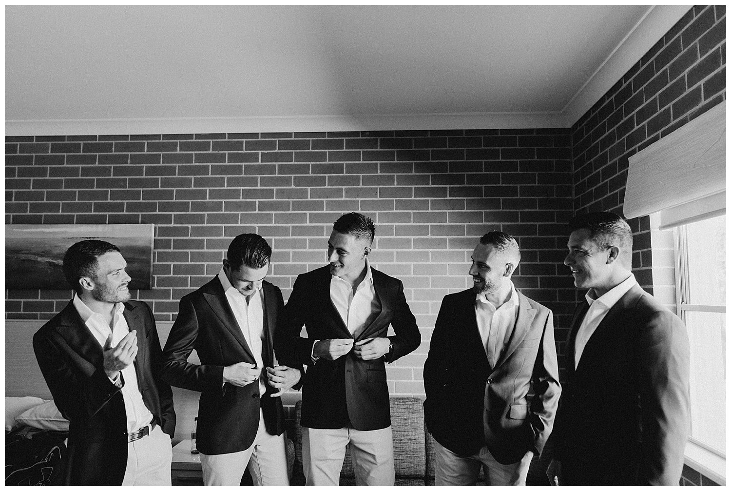 Bowral Southern Highlands Autumn Wedding - Groom and Groomsmen getting ready