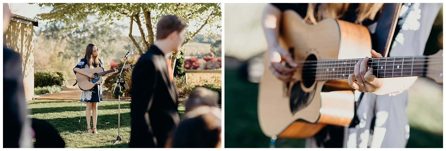 Bowral Southern Highlands Autumn Wedding - female singer/songwriter guitar