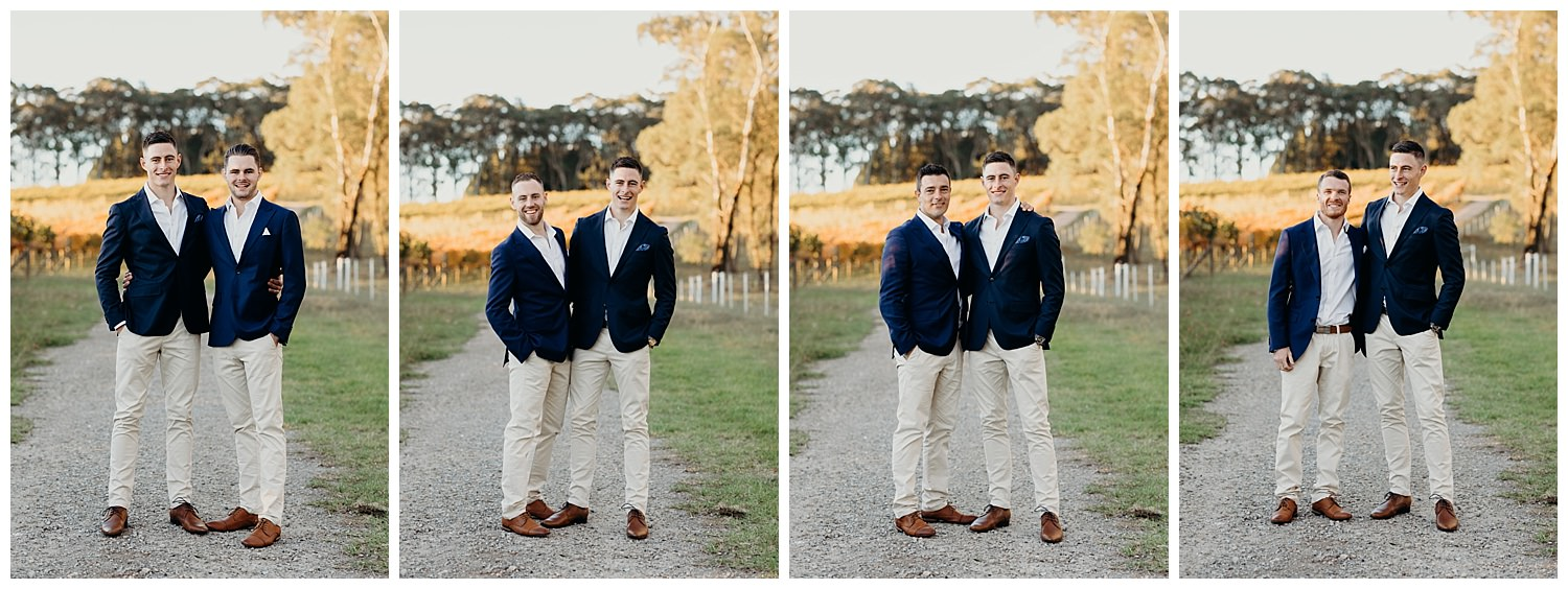 Bowral Southern Highlands Autumn Wedding - Groom and groomsmen portraits
