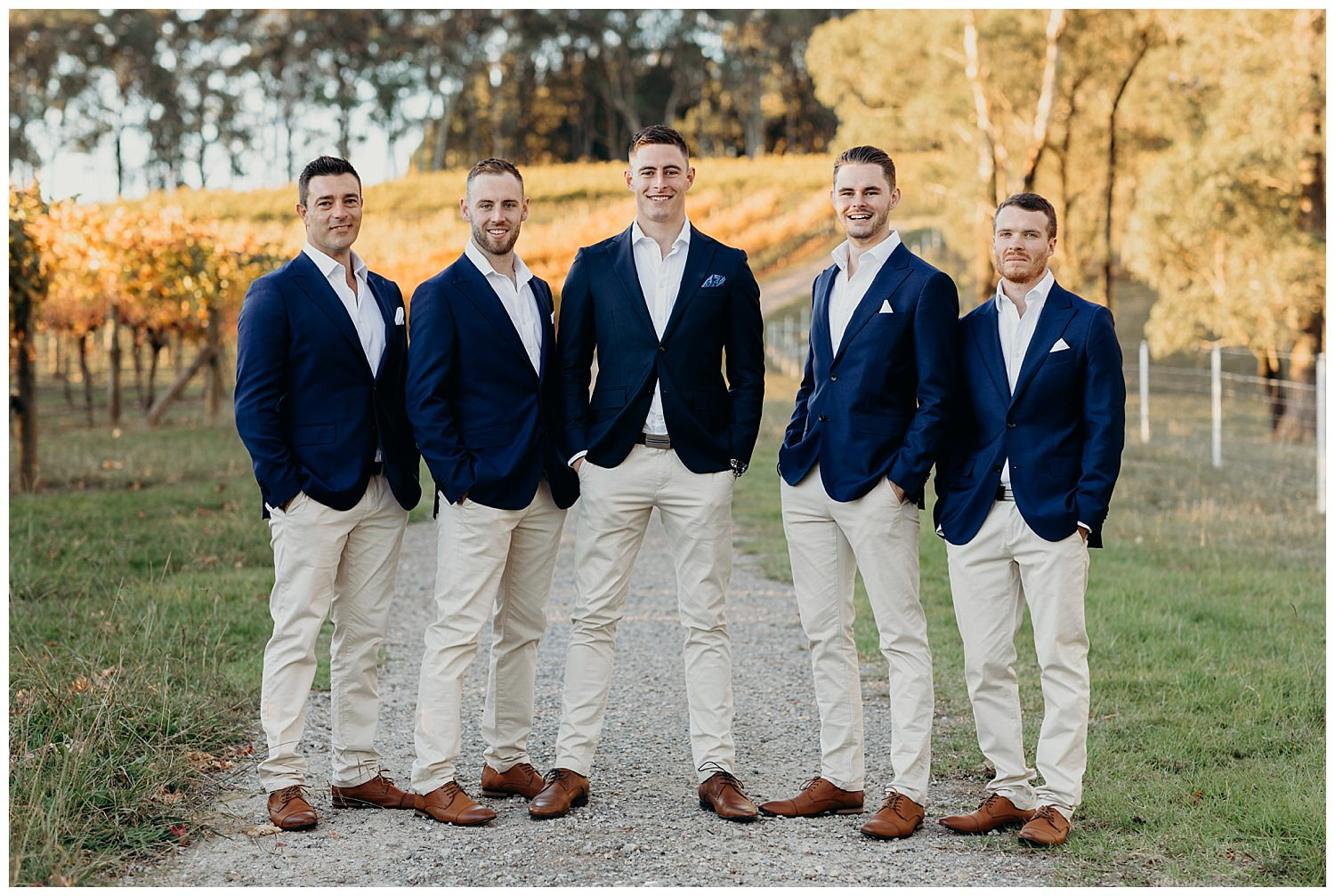 Bowral Southern Highlands Autumn Wedding - Groom and groomsmen wearing MJ Bale