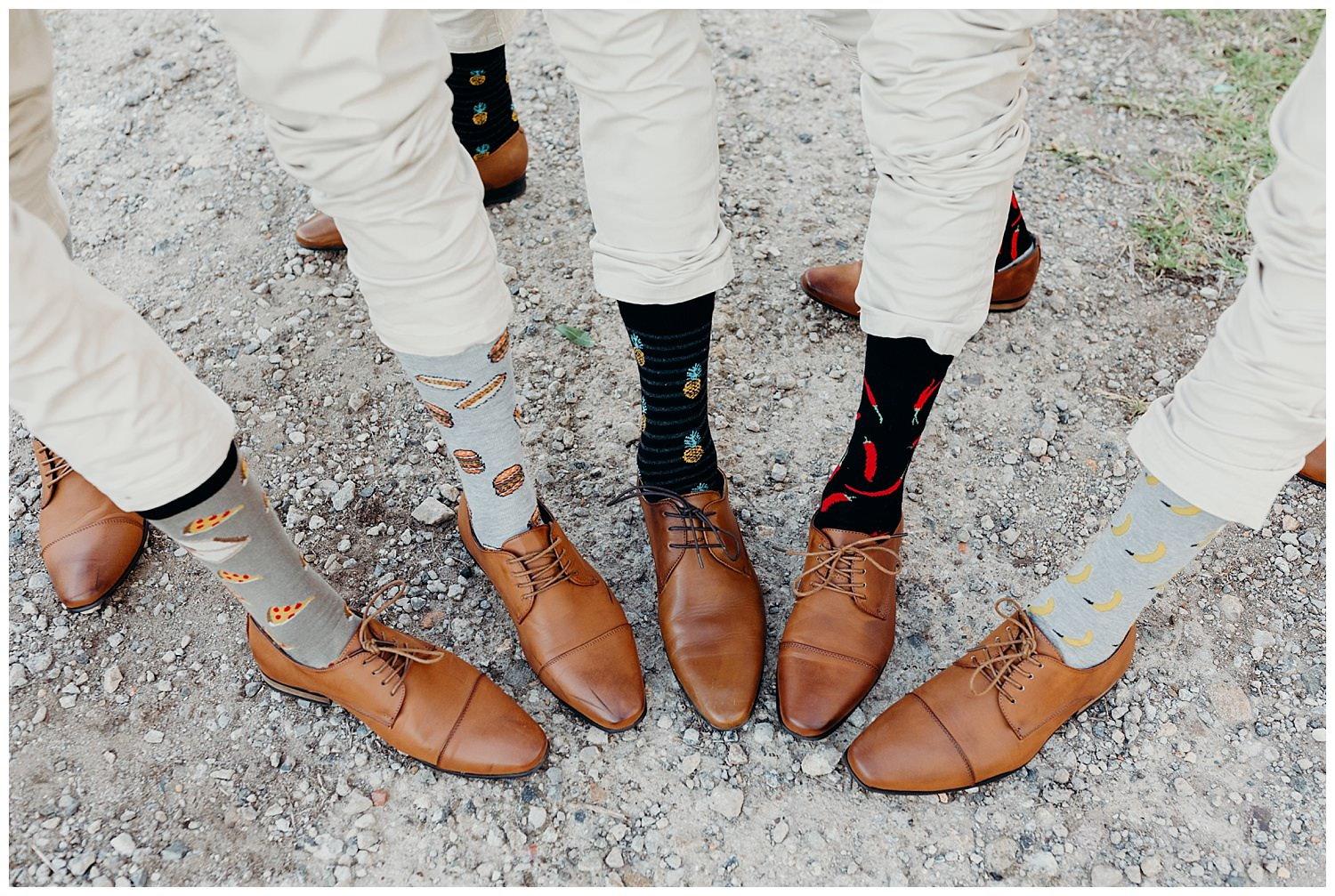 Bowral Southern Highlands Autumn Wedding - Groom and groomsmen socks