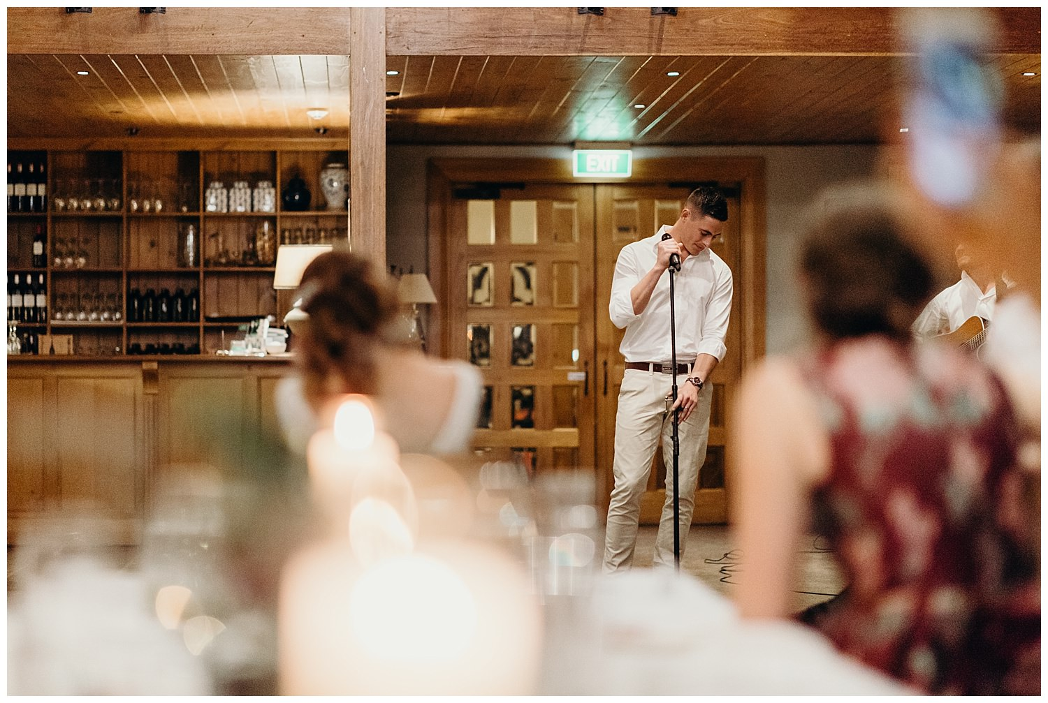 Bowral Southern Highlands Autumn Wedding - Groom sings for bride at Centennial Vineyards