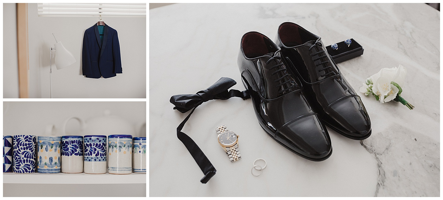 Sydney Groom's details including tux by The Bespoke Corner Tailor
