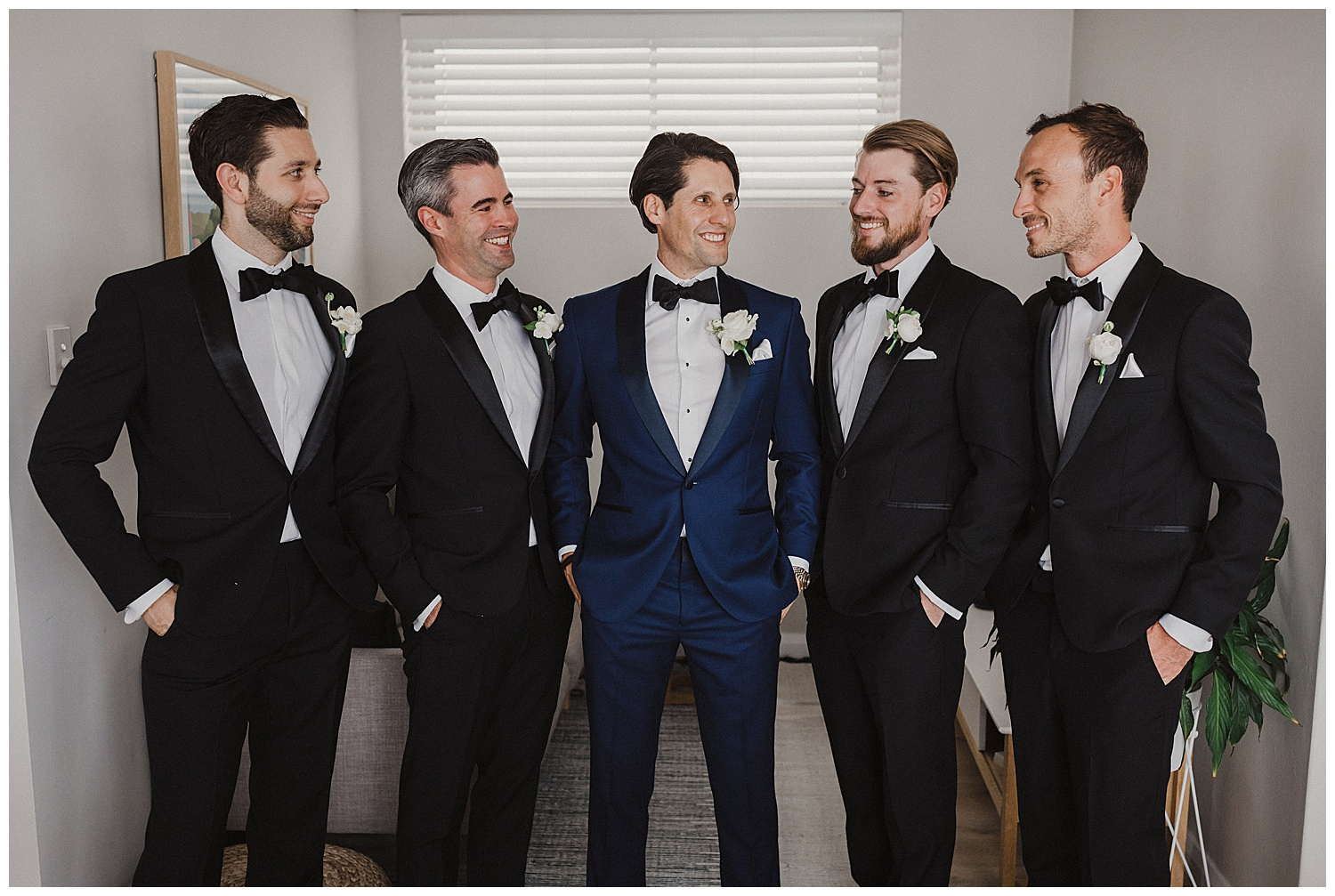 Groom and groomsmen before departing for Sydney Wedding