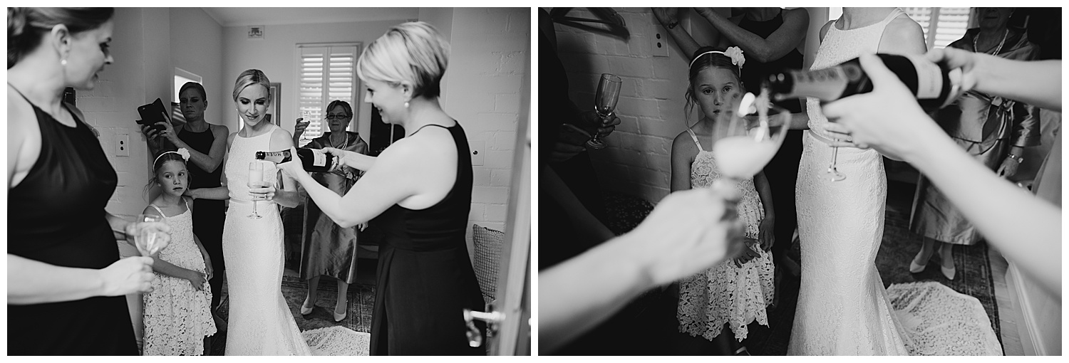 Candid photography moment at Sydney Wedding Bride prep