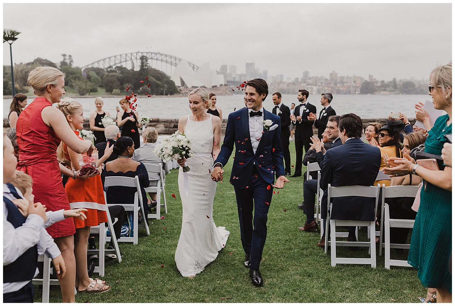 Couple announced as husband and wife at the Royal Botanic Gardens