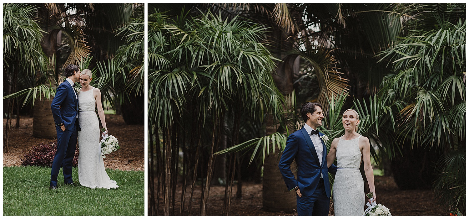 Sydney Bride and Groom share a laugh during their wedding photos