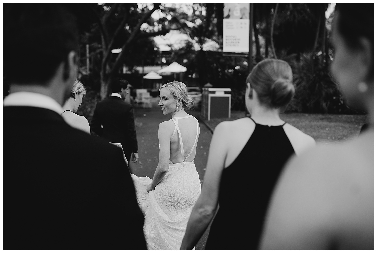 A candid moment of Sydney Bride during Wedding Portraits