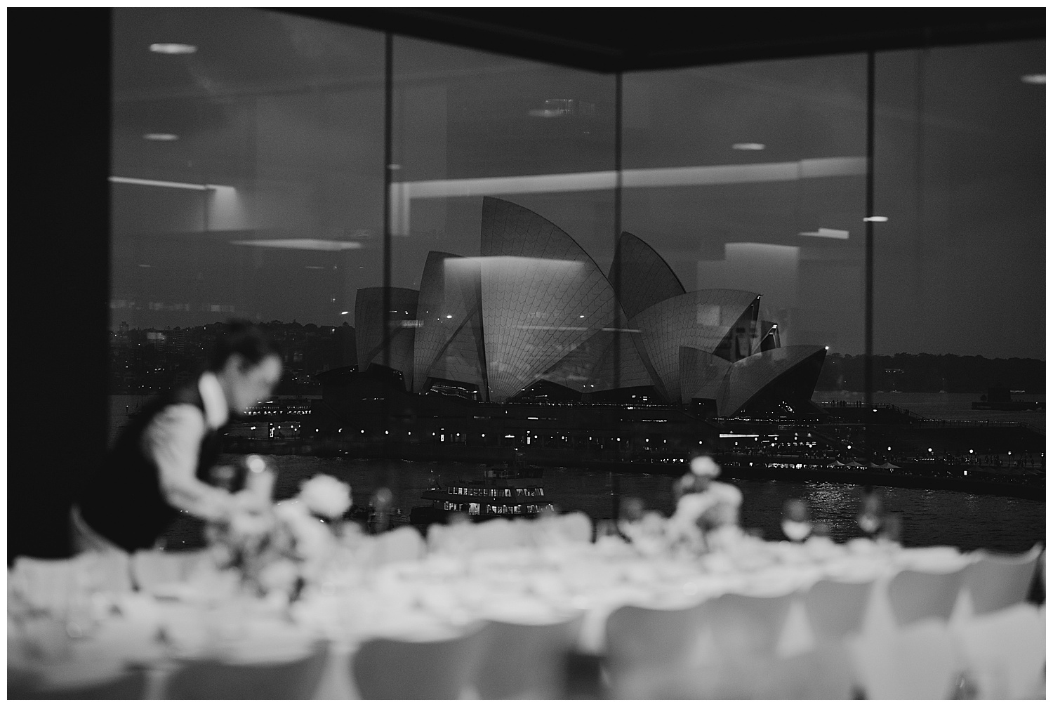Fresh Catering prepare the MCA for guests with the Sydney Opera House in the background