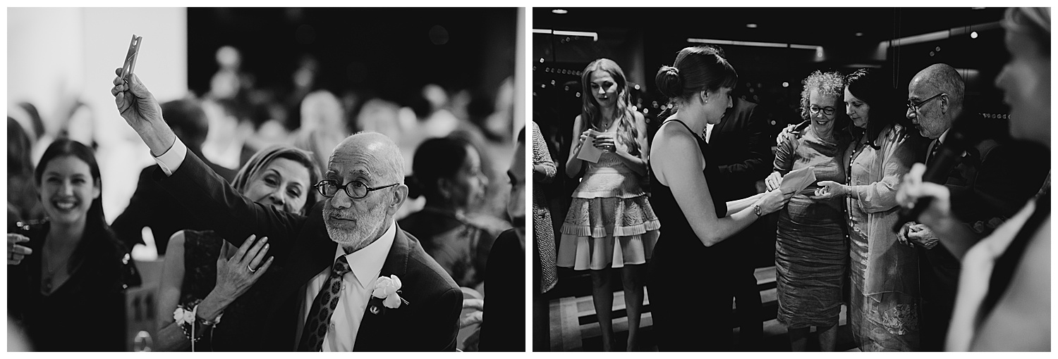 Family members enjoy a wedding tradition at the MCA Sydney