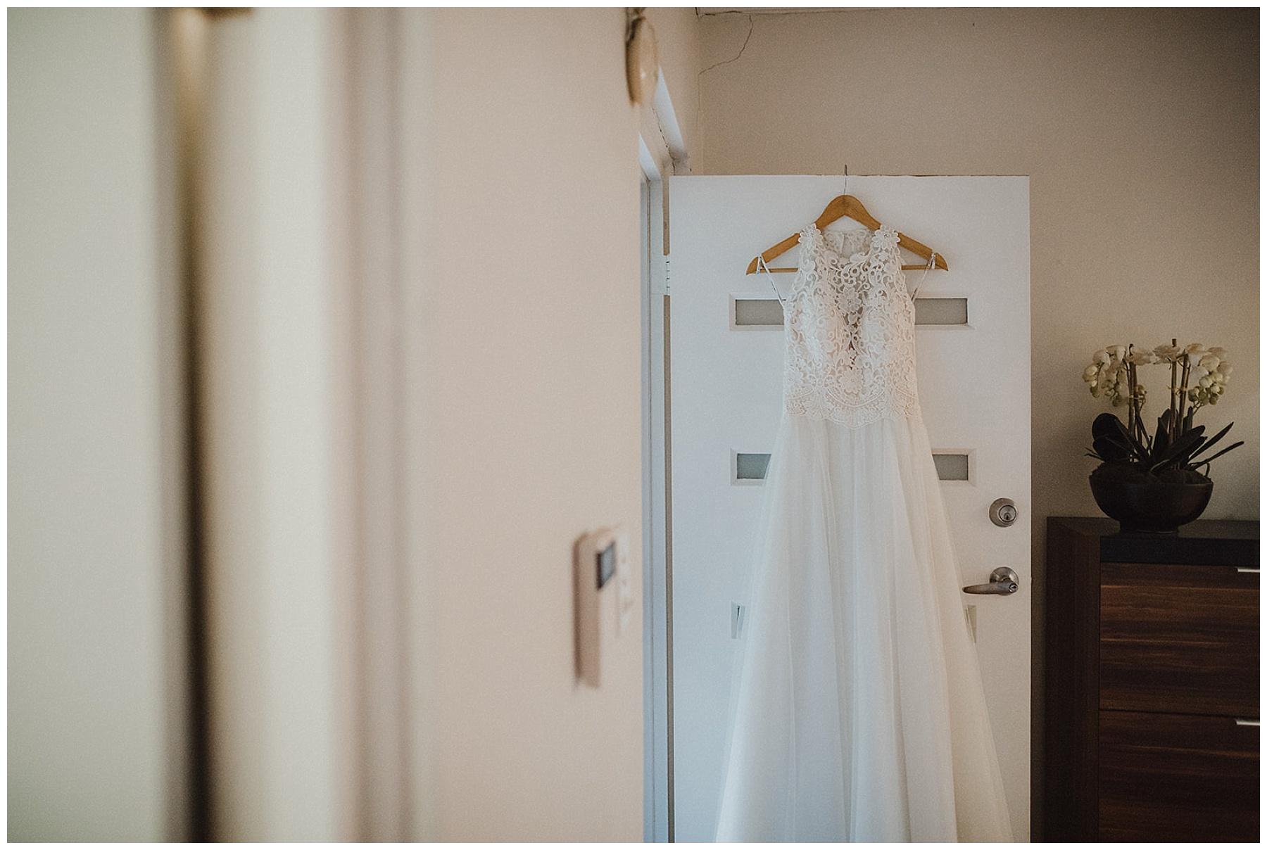 Shot of the Bride's wedding dress