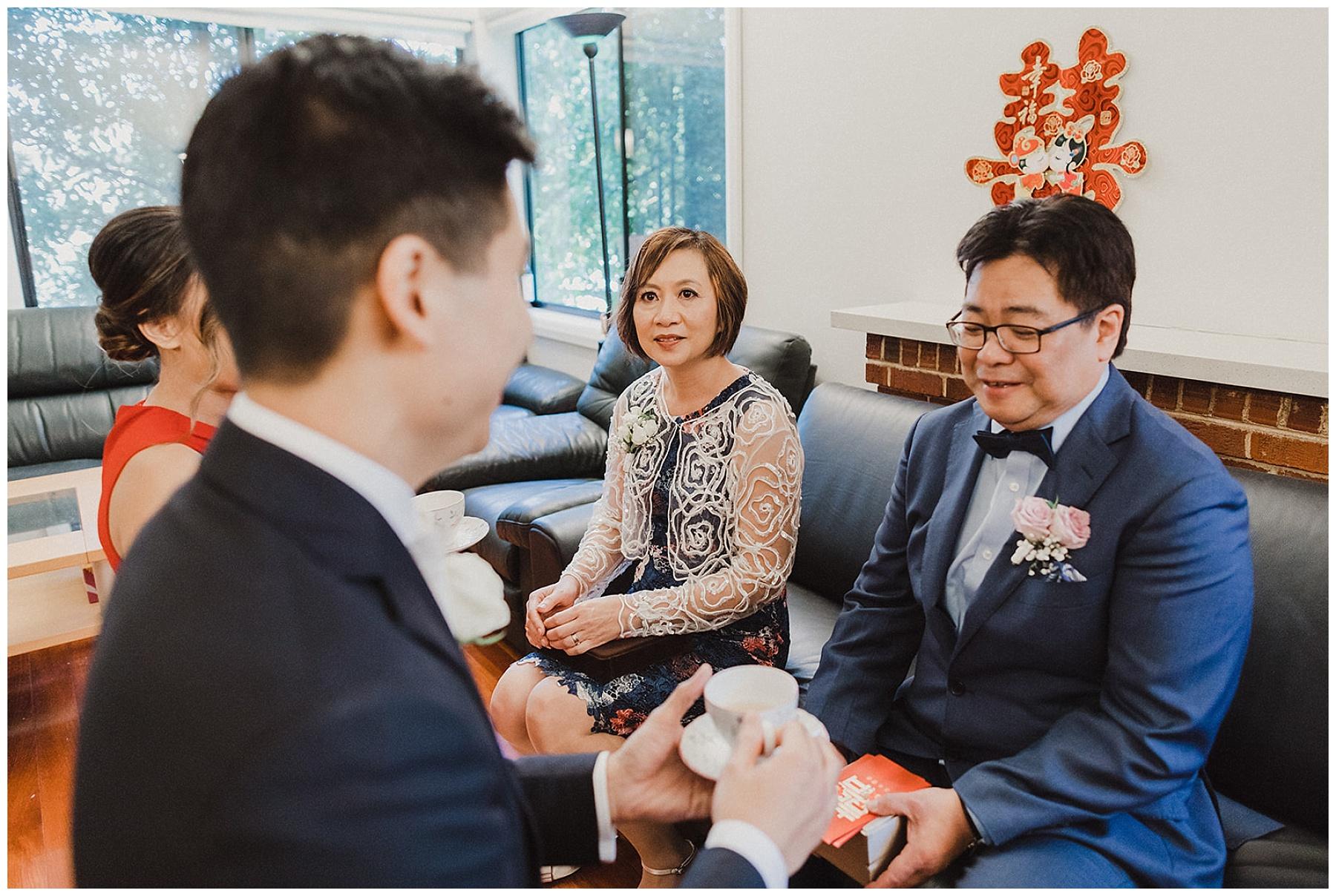 Sydney tea ceremony with family