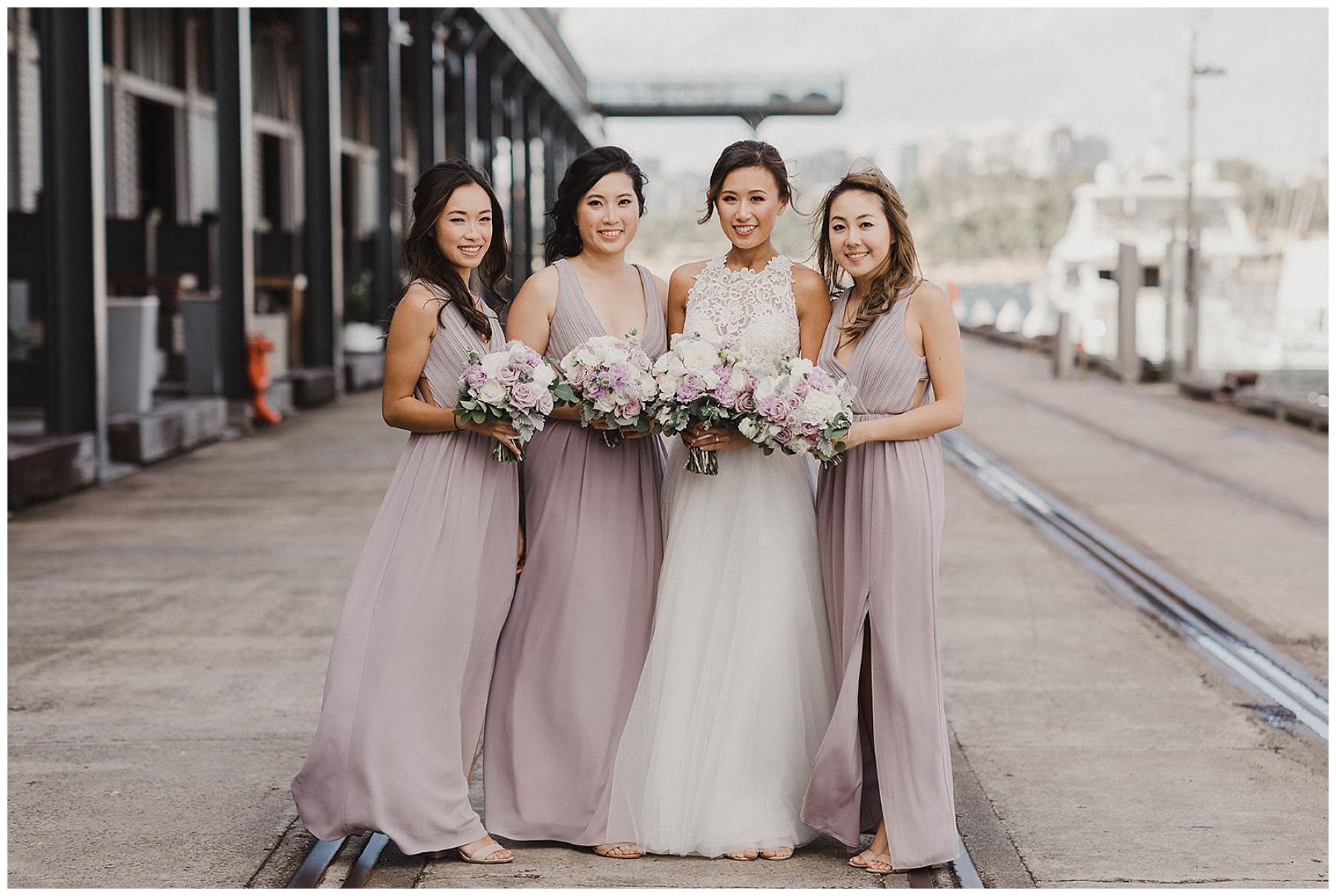 Sydney Bride with her bridesmaids