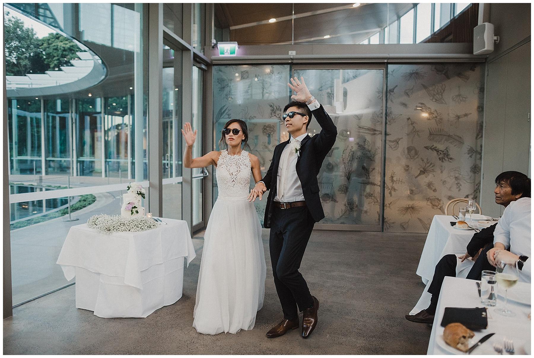 Sydney Bride and Groom entrance to wedding reception