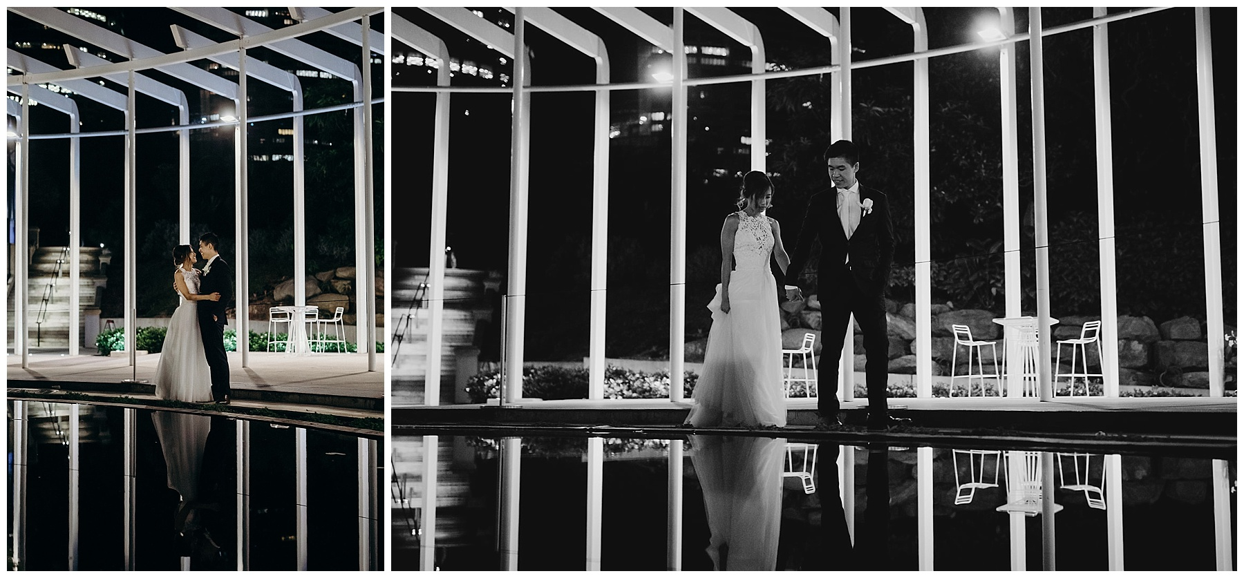 Evening Bride and Groom photography