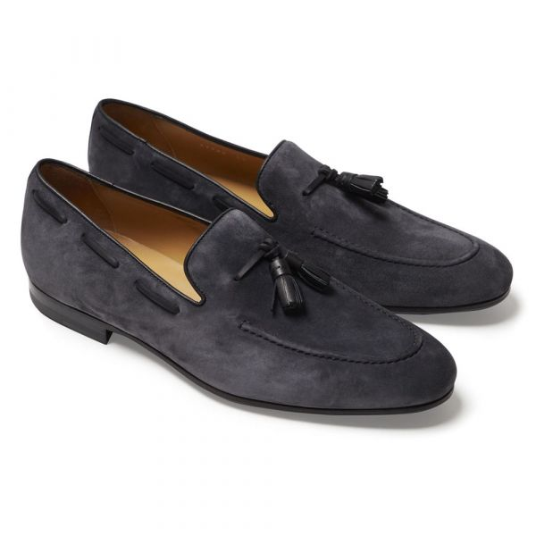 ALODD    GREY ALESSANDRO SUEDE TASSEL LOAFERS  € 370