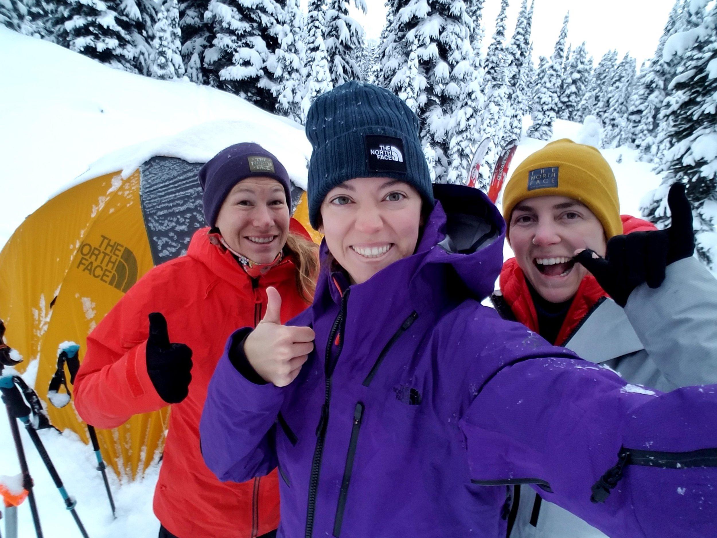 TNF Adventure Grant applicants: Marian, Gaby and Nicole