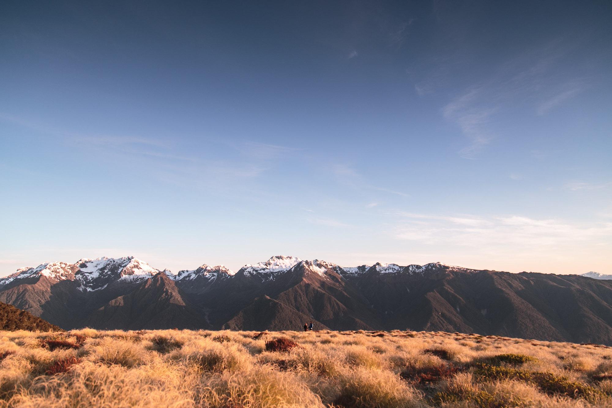 Sunrise at Luxmore Hut