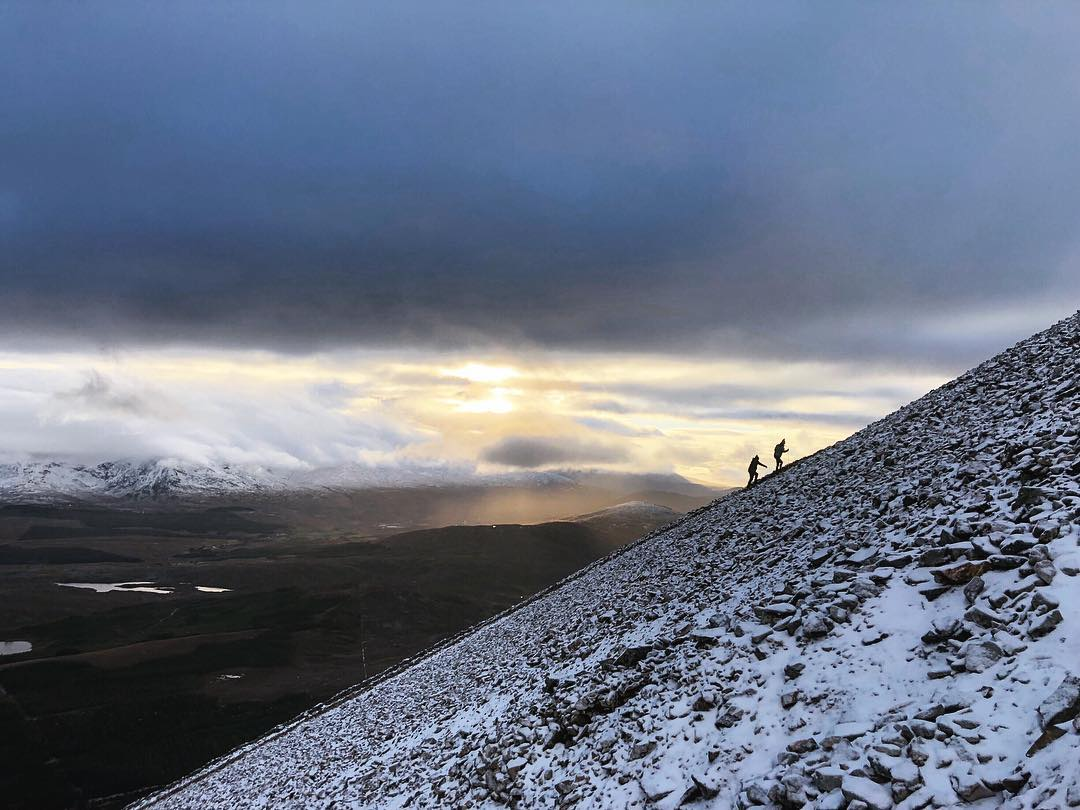The steepness of the last section of Croagh Patrick