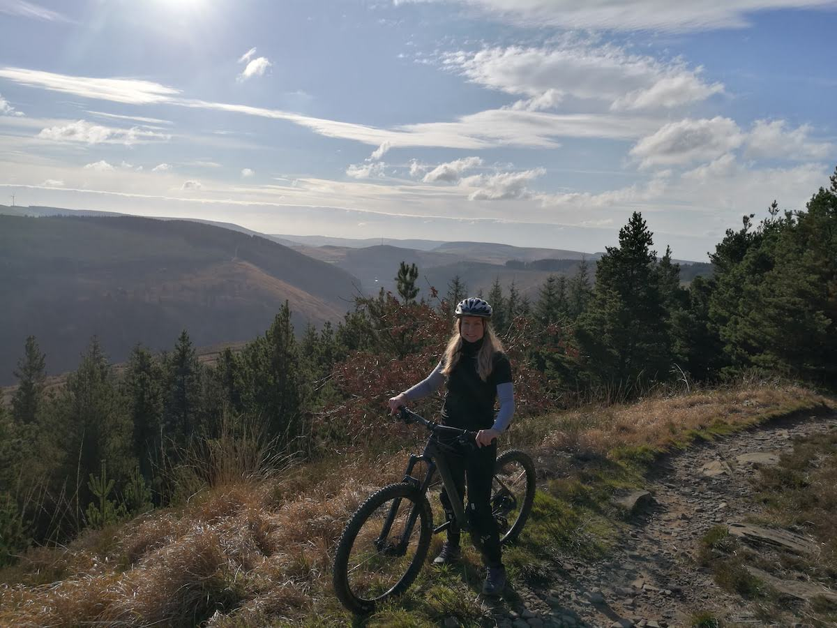 Danielle Lovett - Mountain biking in the mountains