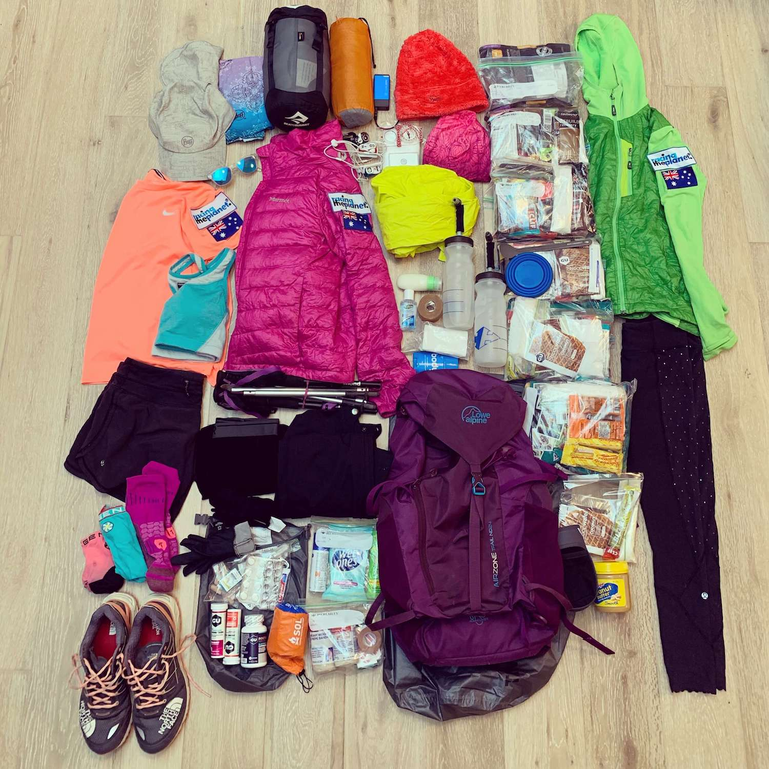 Racing the Planet New Zealand 2019 - Sarah's backpack