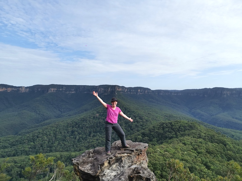On top of Mount Solitary in the Blue Mountains