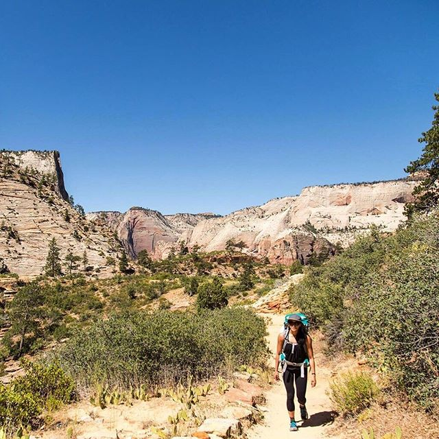 Backpacking in Zion National Park 🤘 When you're new to backpacking, planning for an overnighter can be overwhelming. It helps to think of the rooms in your house to make sure you have everything covered; the bedroom means your sleeping bag, mat and tent, the kitchen means your stove, gas, crockery, food and water, the bathroom means what it means as well as toiletries and then there's lighting, safety and clothing…and where does it all go?  In your backpack! New to the #shewentwild blog is our crash course in planning an overnight hike. 📷 @thuc.creative