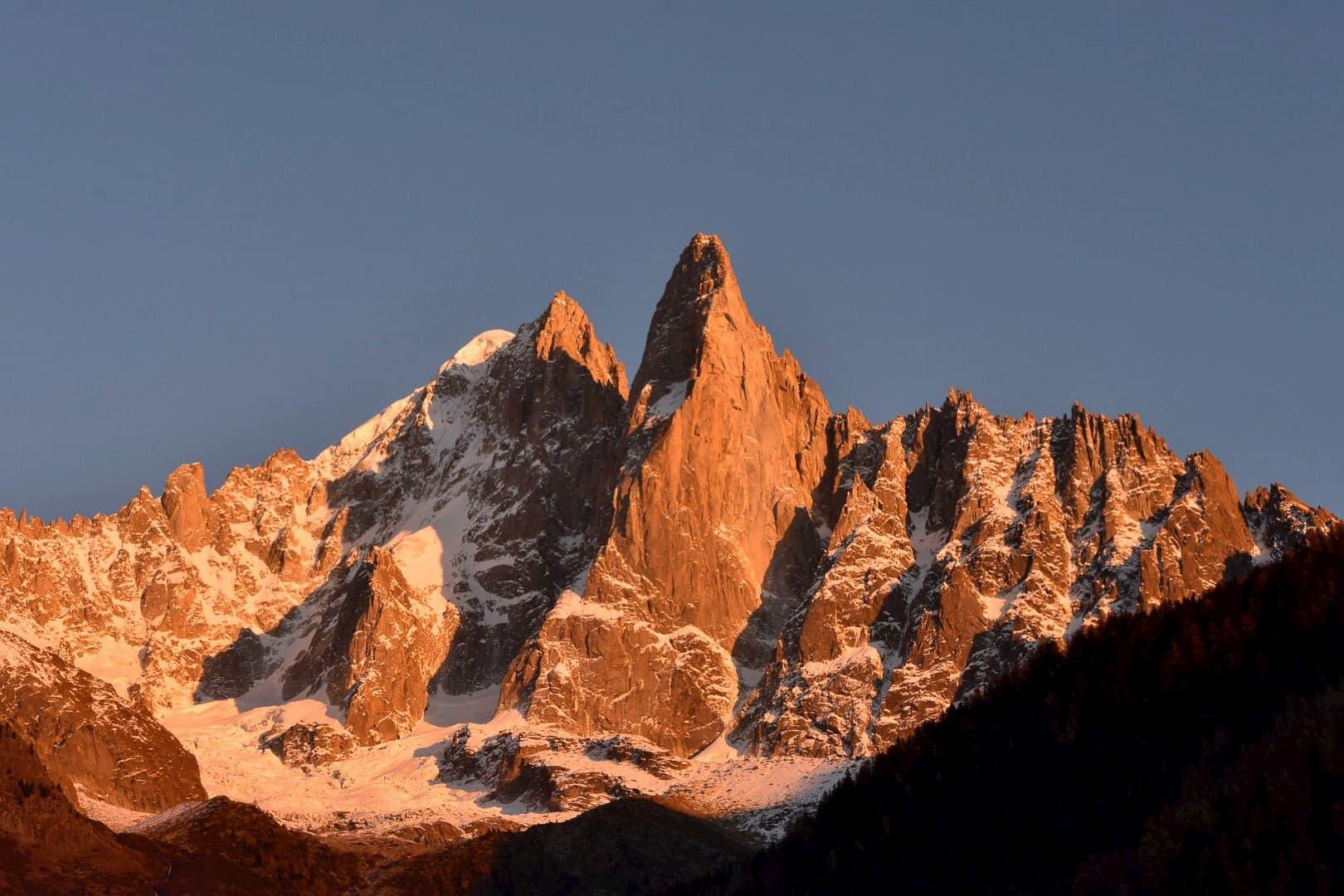 Alpenglow on Les Drus