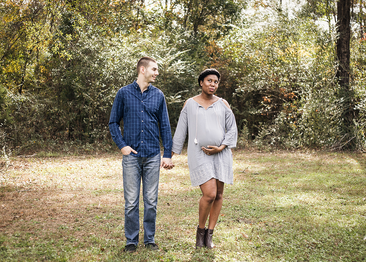 Atlanta-maternity-photoshoot-interracial-couple-in-blue-dress-by-Marietta-photographer-Chanel-French-4