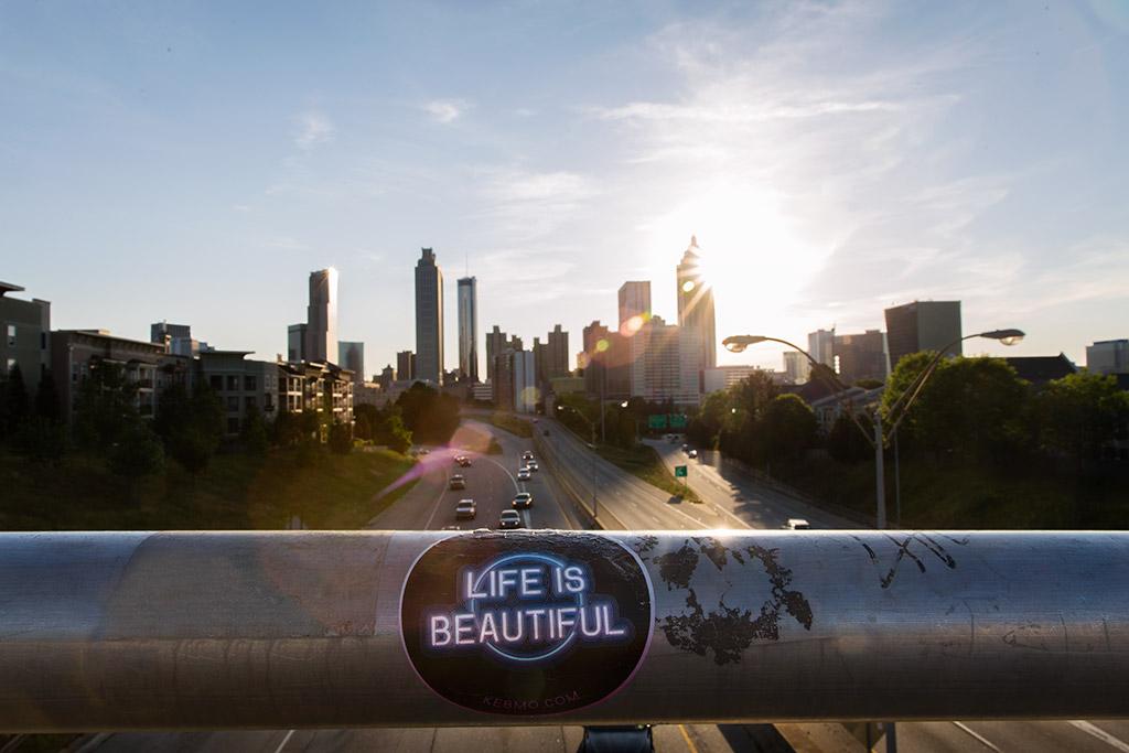 Atlanta-skyline-from-Jackson-street-bridge-at-sunset-by-Marietta-photographer-Chanel-French