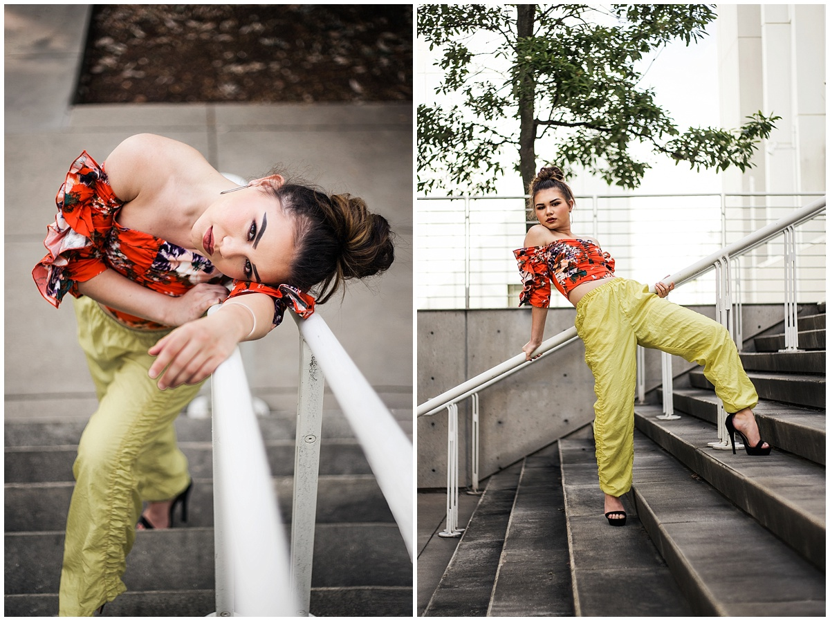 Atlanta-fashion-blogger-photographer-Chanel-French-with-Kari-Twyman-photoshoot-at-High-Museum-of-Art-model-with-orange-hm-top