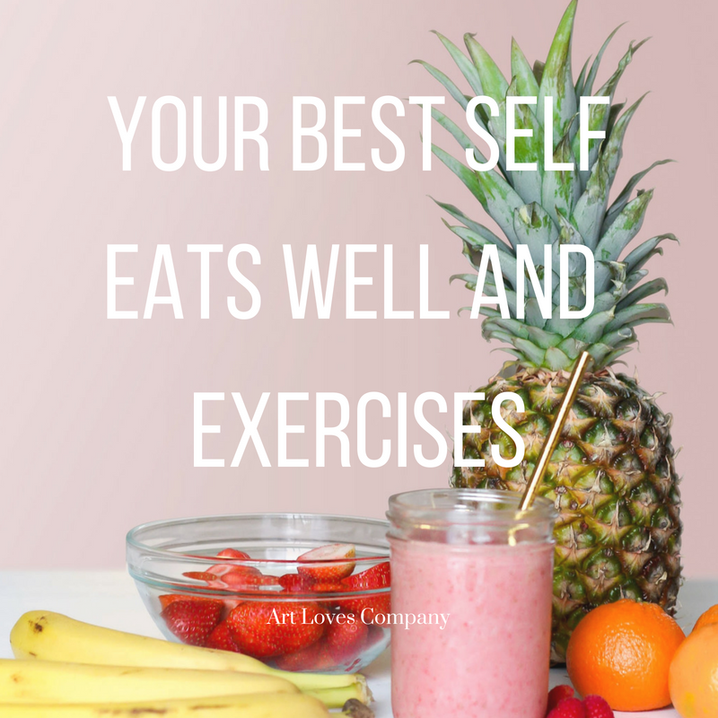 Eat well and exercise to be successful