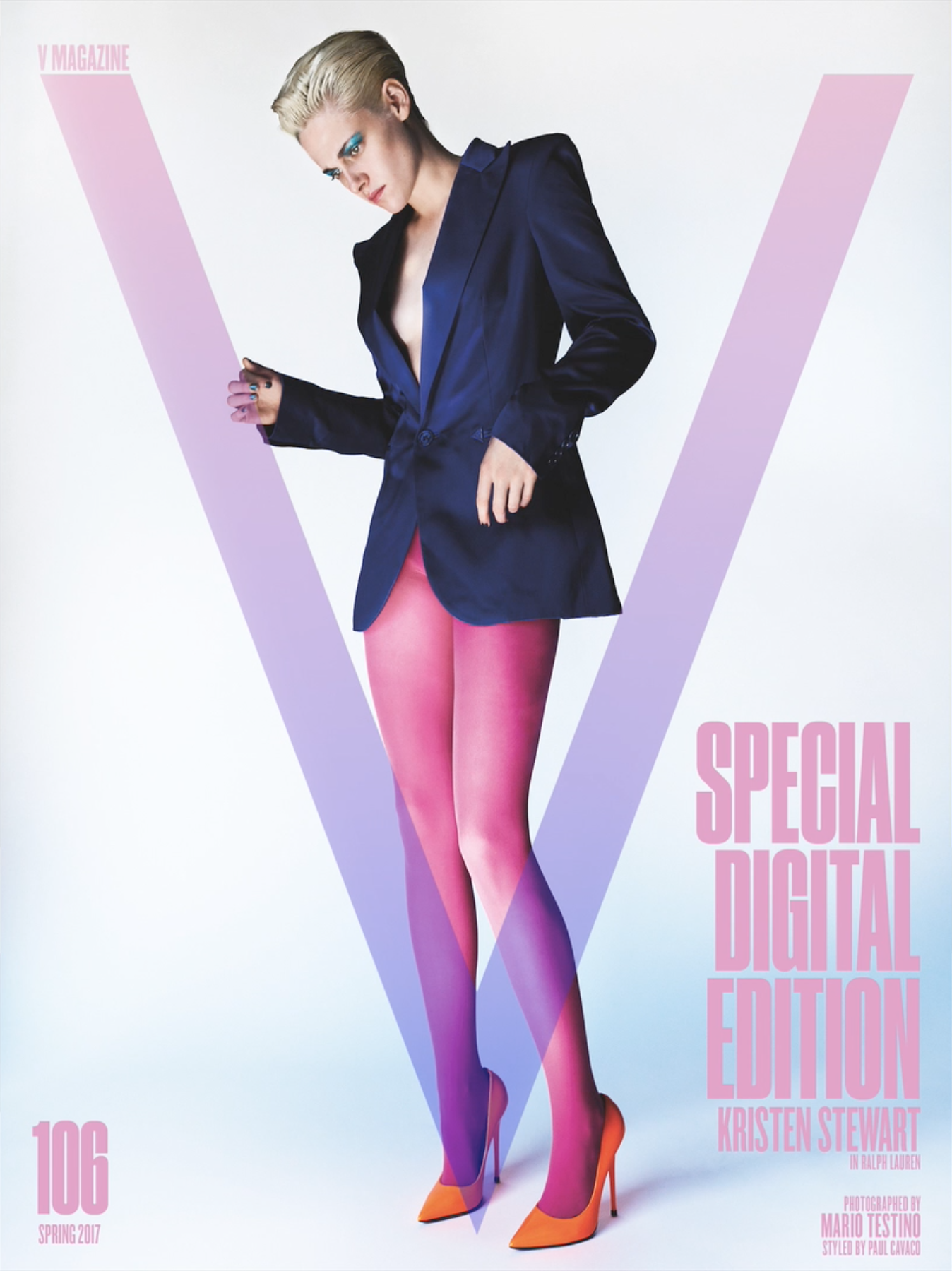 V106 SPECIAL DIGITAL EDITION COVER  Photo by Mario Testino  Styled by Paul Cavaco  Cover designed by Harvey Lee