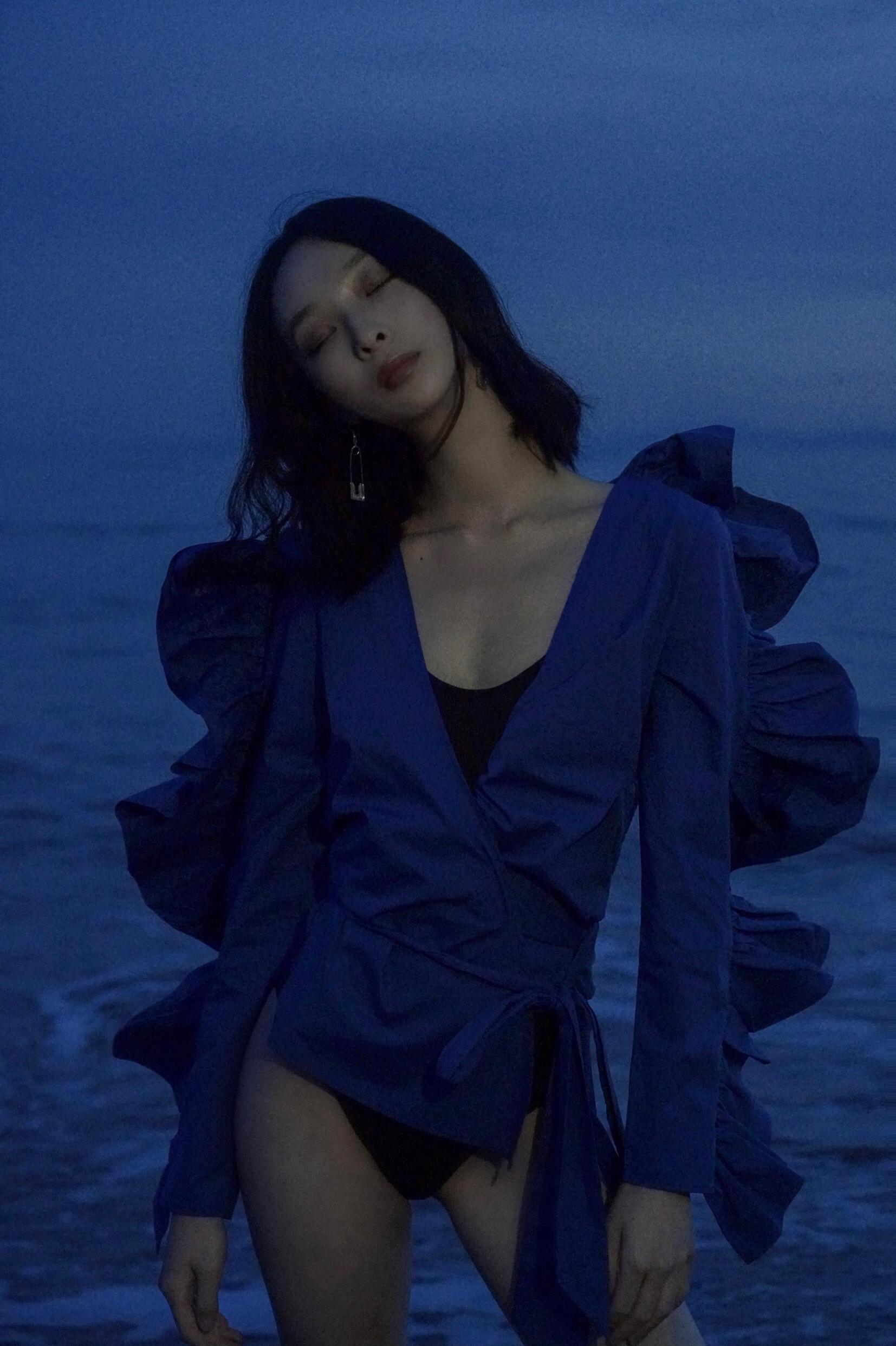 Blue on Blue  Model: Eve Liu
