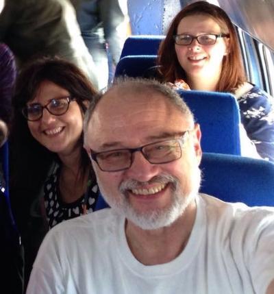 Dr. Fabian Gorodzinksy with Tinka and Heather on the way to Gracias.