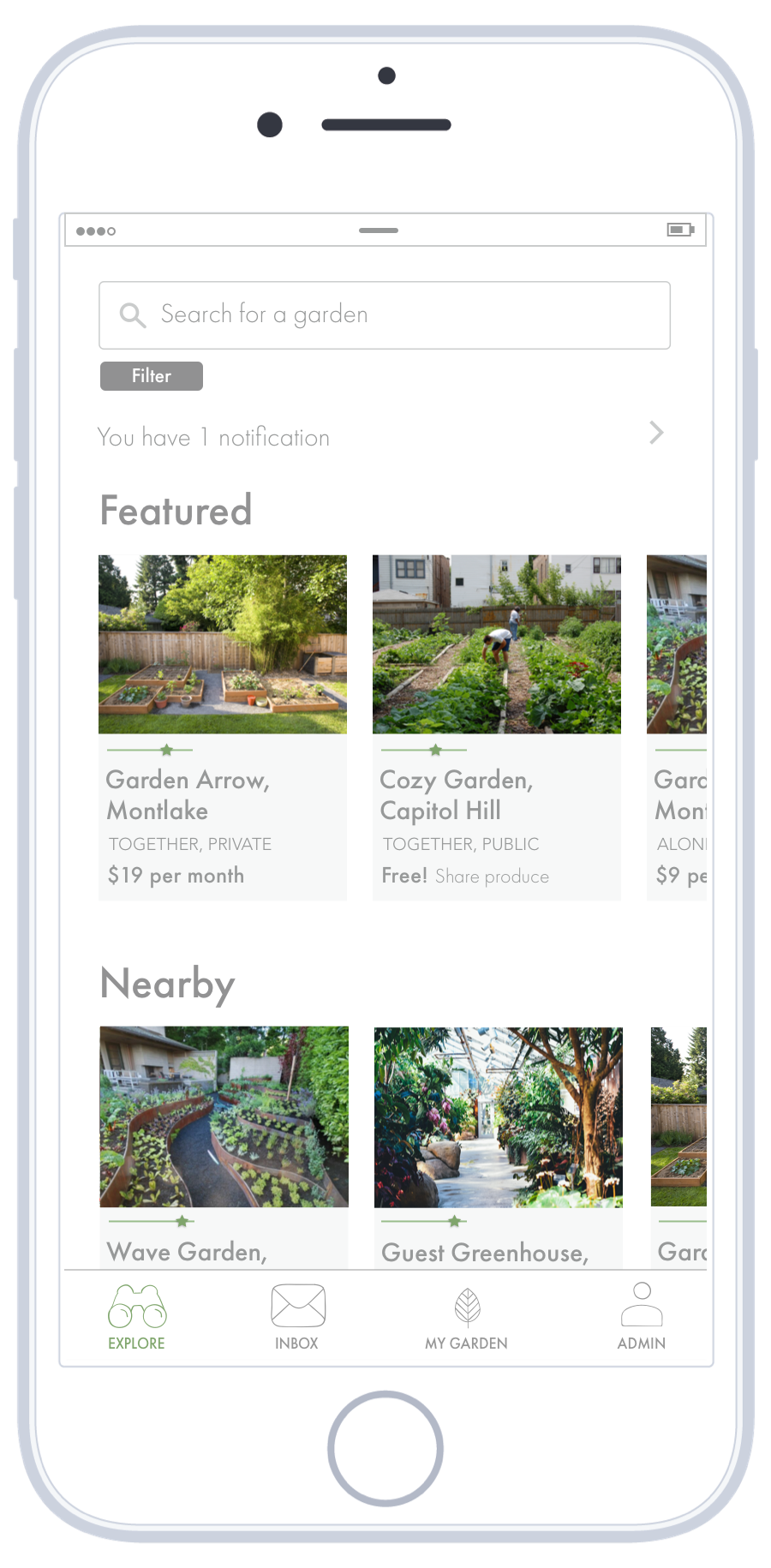 Find a nearby garden   Search for a nearby garden, and apply for a plot to garden.