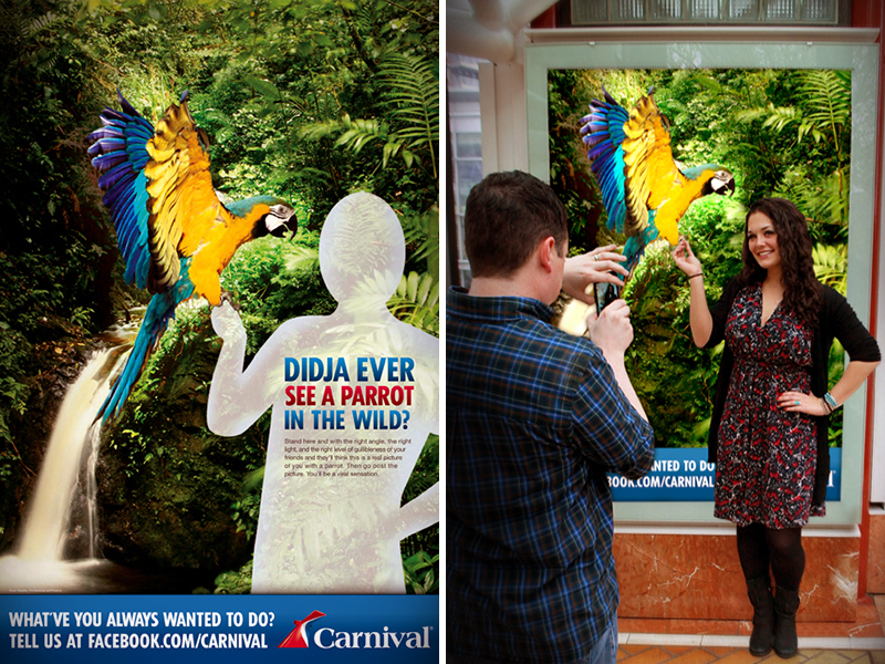 Hey America, Didja Ever? ad campaign O.O.H. for Carnival Cruise Lines by Tom Morhous and Arnold Worldwide