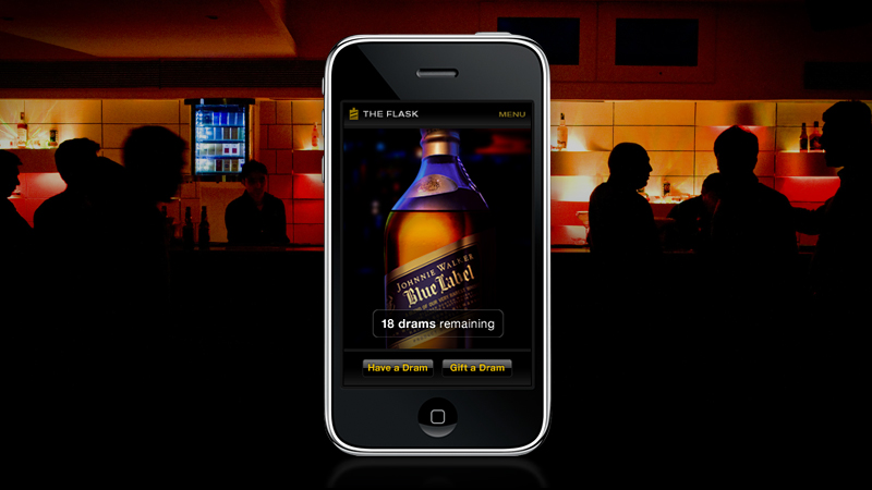 The Walker digital platform The Flask for Johnnie Walker by Tom Morhous and AKQA